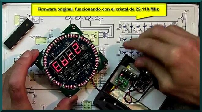 Firmware original con el cristal de 22,118 MHz.