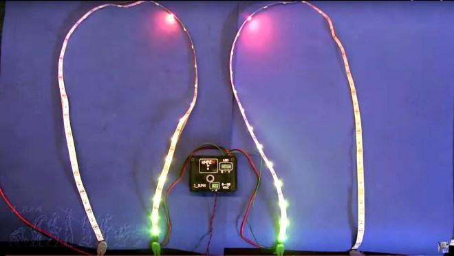 Vúmetro RGB en pruebas