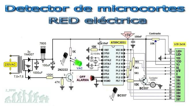 Detector de microcortes (esquema)