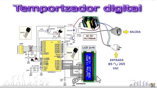 Temporizador digital: ESQUEMA