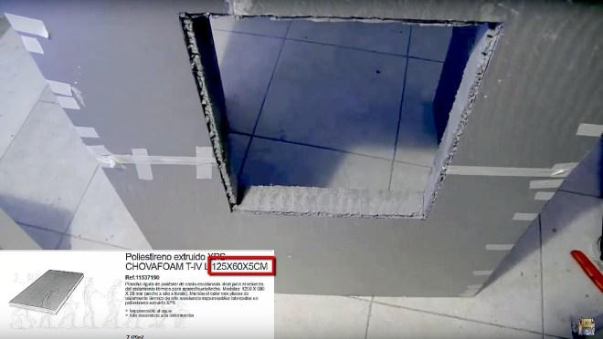 Armazón con paneles de poliestireno extruído