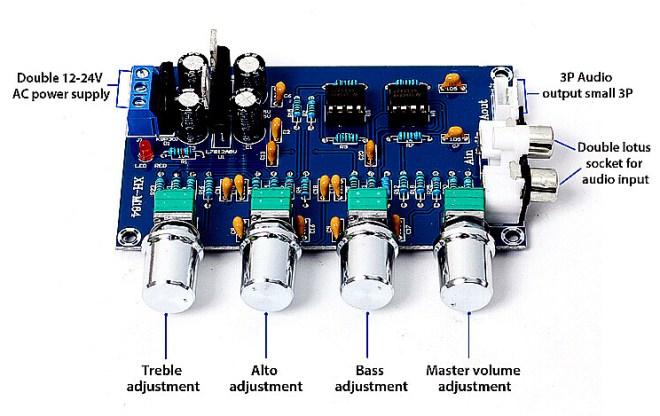 Ecualizador de audio XH-M164