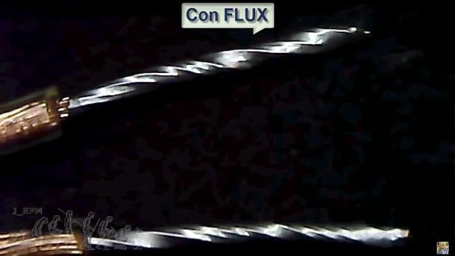 Estañado con Flux