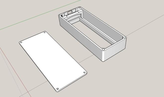 Caja 3D, para el PCB de 4 matrices LED de 8x8