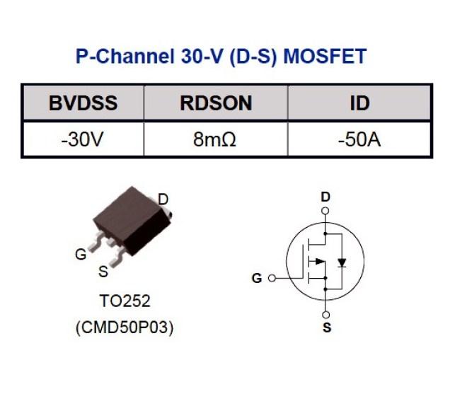 MOSFET: CMD50P03