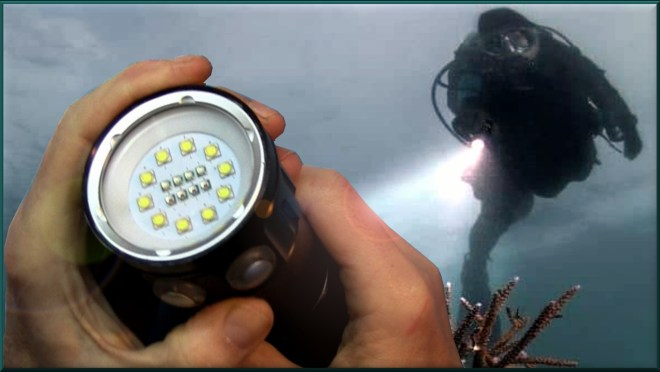 Foco LED de buceo