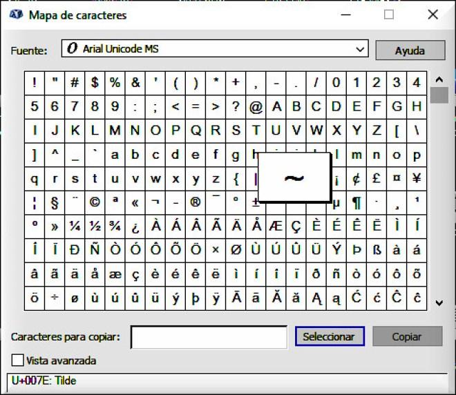 Caracteres ASCII de 7 bits