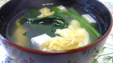 JSimple Recipes  Tofu  Spinach Clear Soup