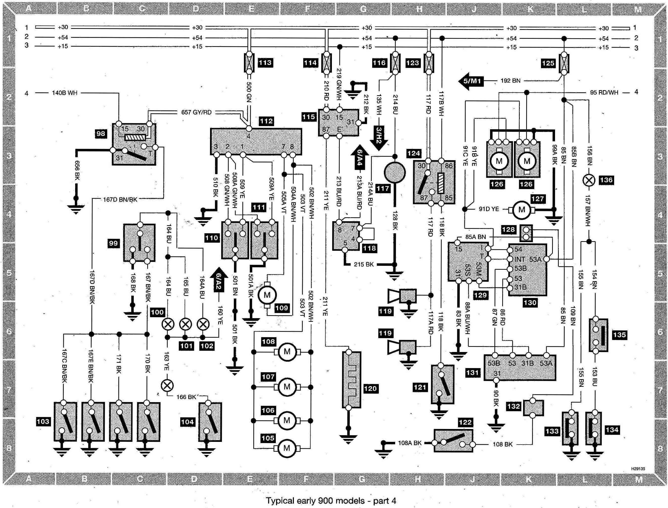 Index of /saab/Saab 900 Wiring diagram (early models)