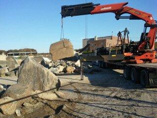 natural landscape stone rock boulder