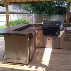 Outdoor Kitchen Supplies How To Build An Plans Equipment Houston Gas