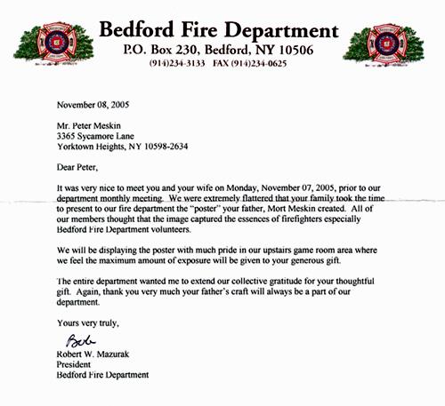 firefighter letter of recommendation example - Kasta ...