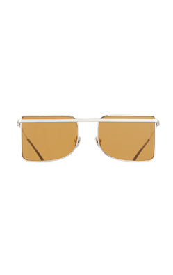 CALVIN KLEIN 205W39NYC Metal Square Aviator-Style Sunglasses