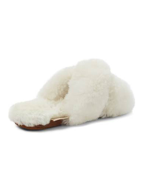 CRISSCROSS ALPACA SLIPPER