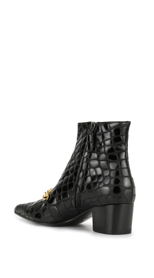 EMBOSSED CHAIN TRIM BOOTS