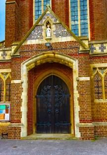 Door to St. James Church, Milton.