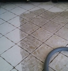 White Tile and Grout Cleaning