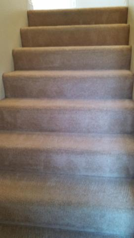 J2 Cleaning Las Vegas carpet cleaning on dirty stairs - after