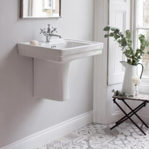 Burlington Contemporary Medium Basin and Semi Pedestal