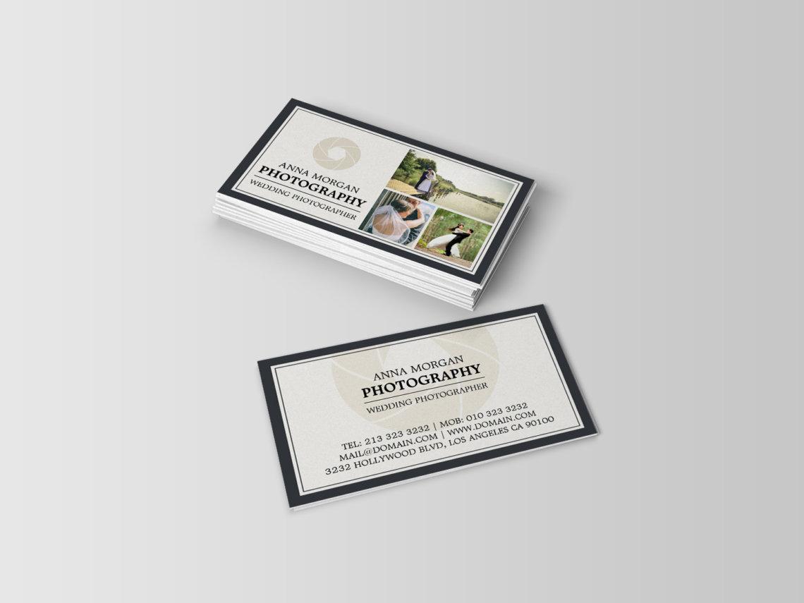 Elegant Wedding Photographer Business Cards  J32 DESIGN