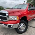 2005 Dodge Ram 3500 Diesel 5 9 Cummins 4x4 Quad Cab Dually 187k Long Bed Hot Red Online Auto Warehouse Llc Dealership In Akron