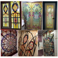 Vintage Flowers Stained Glass Decorative Window Film Cling ...