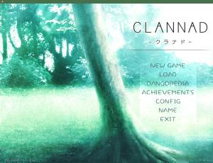 Clannad英語版タイトル画面