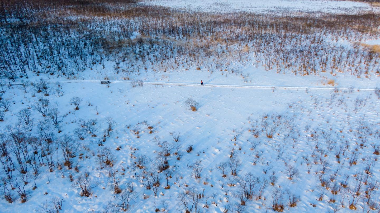 1.「釧路湿原」の幻想的な雪と氷の世界をスノーシューで散策する