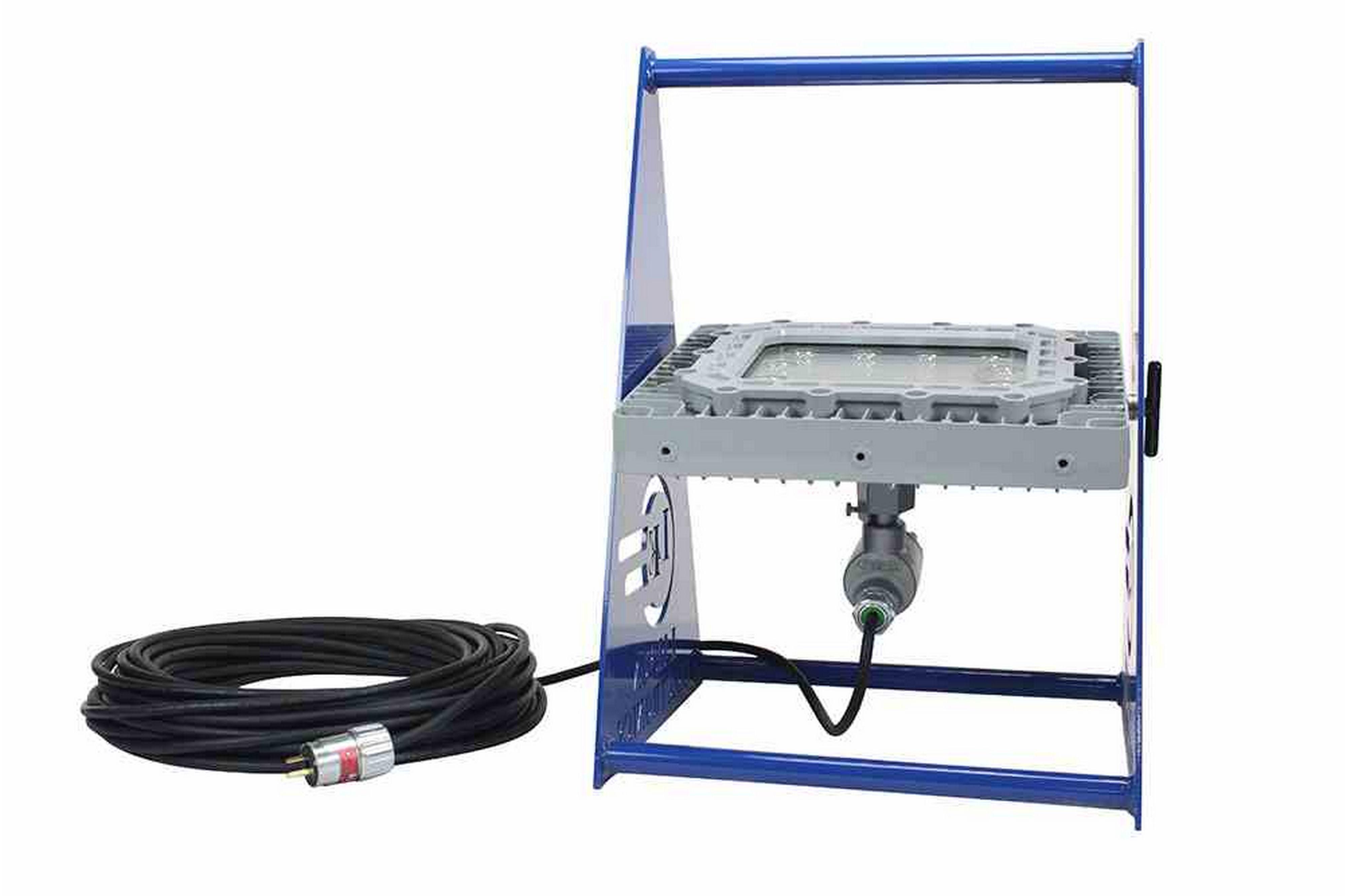 Larson Electronics - 150W防爆紫外線ポータブルLEDフィクスチャ - ペイントブース承認済み - 365NM - EXPコードキャップ