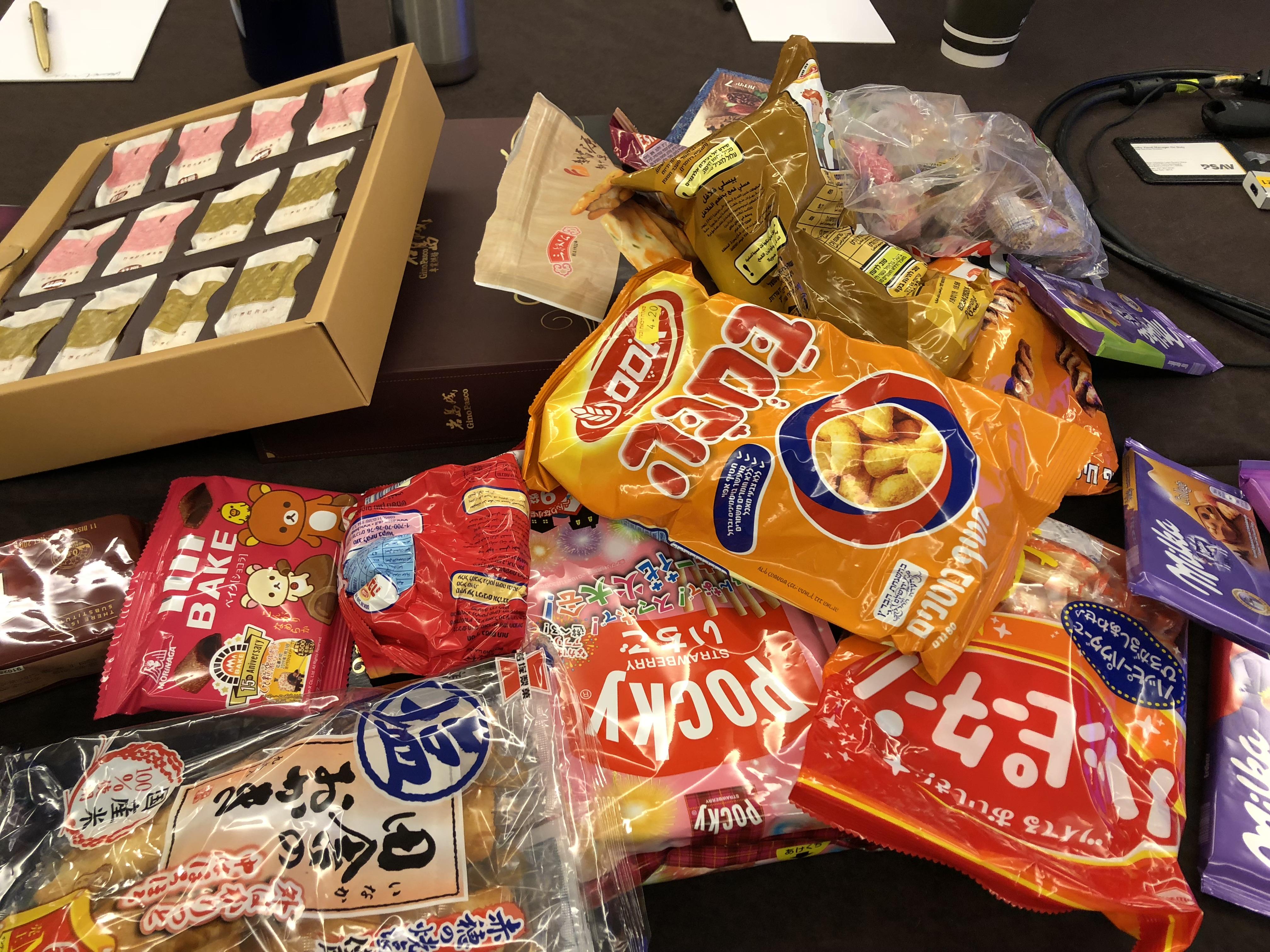 オーストリア、台湾、イスラエル、日本のお菓子
