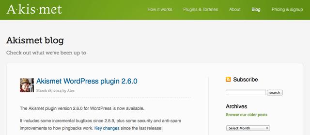 Akismet 2.6 Release Note