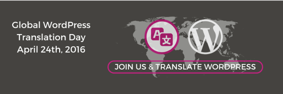 Global WordPress Translation Day banner