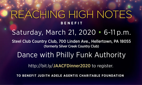 Philly Funk Authority to Headline Judith Adele Agentis Charitable Foundation Benefit Dinner