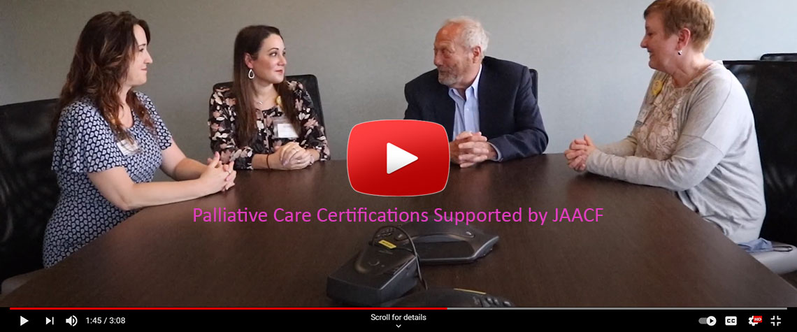 JAACF Joins with St. Luke's to support Palliative Care Certifications