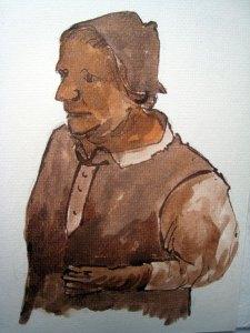 Klepperman 1 - sepia, 25 x 20 cm