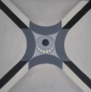 Koepel 2, olieverf 60 x 60 cm