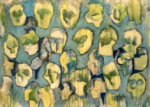 Point HOC 1995, acryl 70 x 100 cm