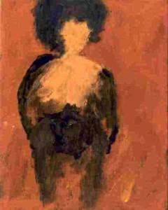 Vrouw 24, acryl 25 x 20 cm