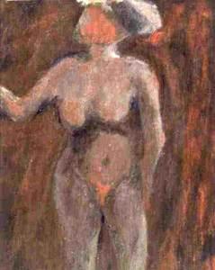 Vrouw 28, acryl 50 x 37 cm