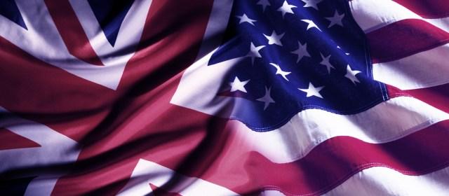 Britisk og amerikansk flagg