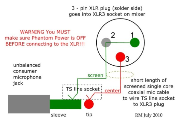 How to Wire an Unbalanced Microphone To A Balanced XLR