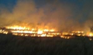 حريق ميس الجبل