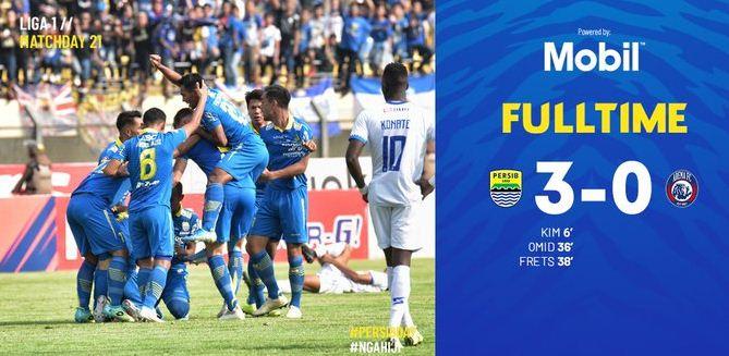 Persib Bandung vs Arema FC 3-0 Video Gol & Highlights