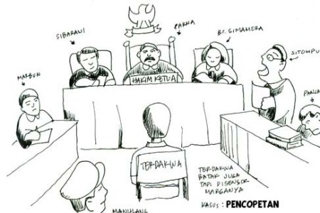 Suasana sidang di pengadilan (Ilustrasi).