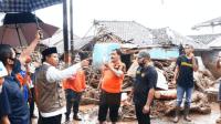 Wagub Jabar Tinjau Lokasi Banjir Sukabumi