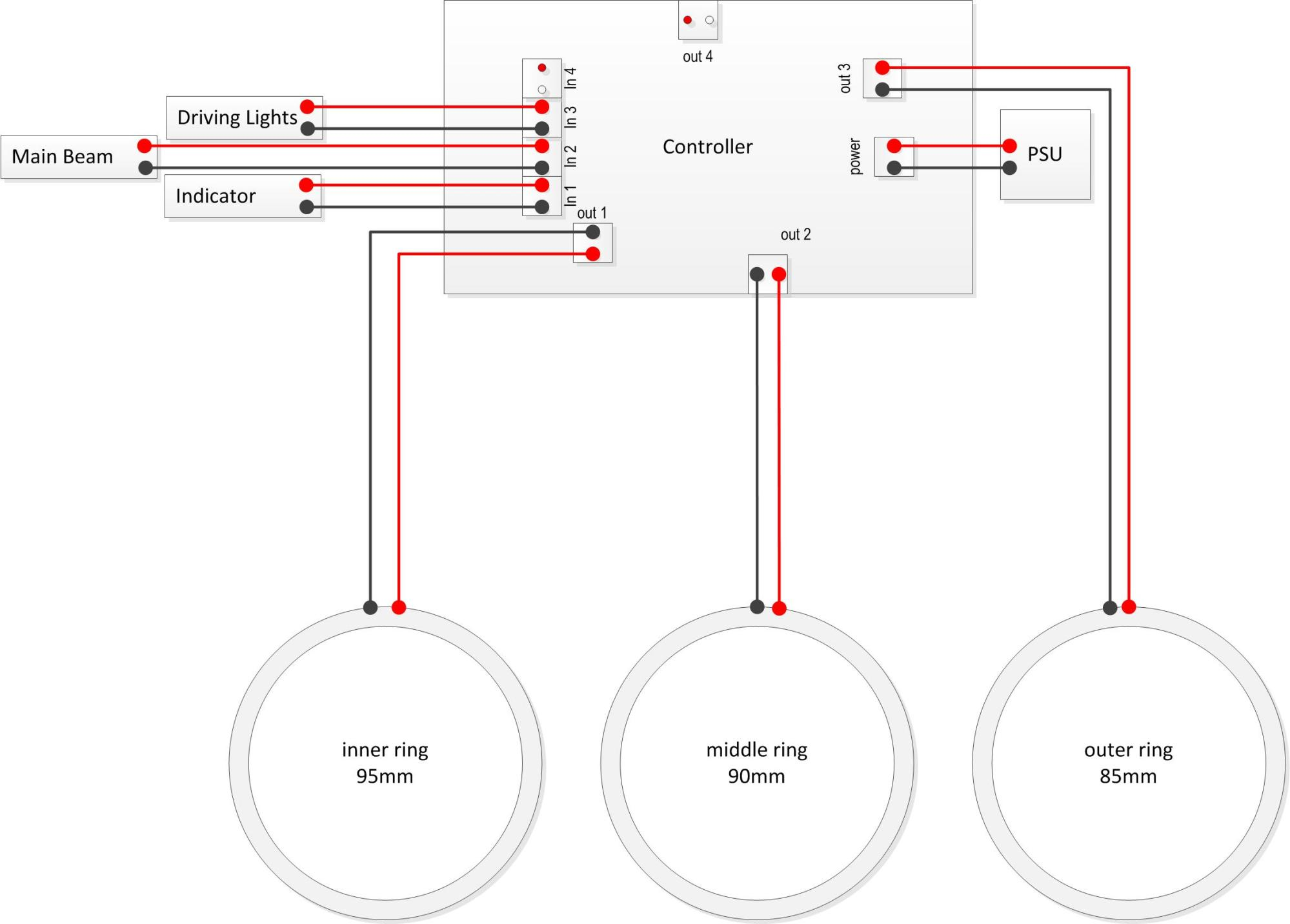 hight resolution of  simplified wiring diagram for the v2 1 controllers easily identifiable as having a green circuit board each of the wires you create in the above steps