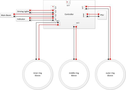 small resolution of  simplified wiring diagram for the v2 1 controllers easily identifiable as having a green circuit board each of the wires you create in the above steps