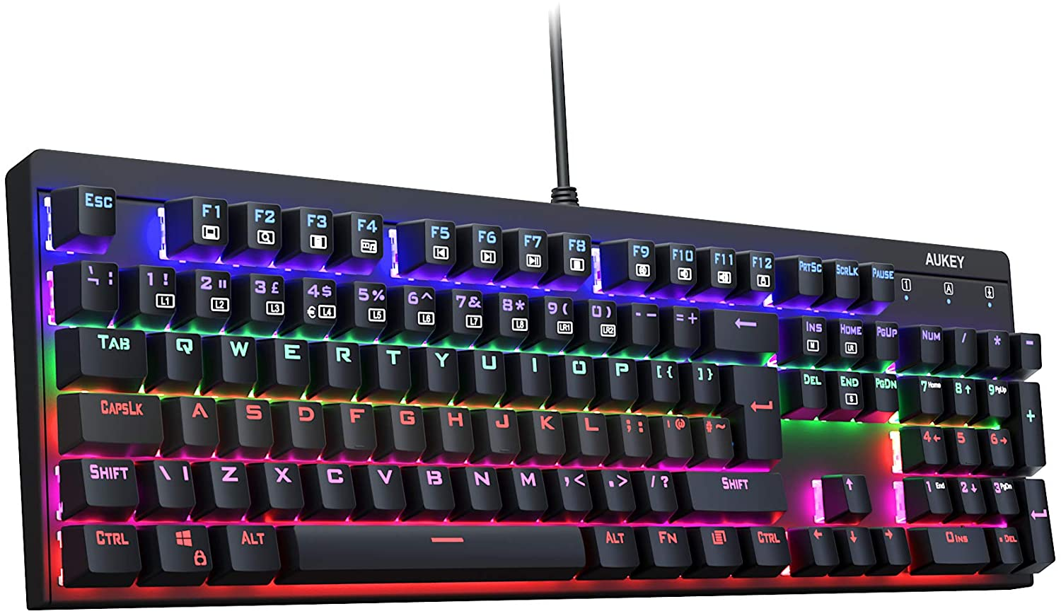 AUKEY Mechanical LED Backlit Gaming Keyboard Review