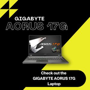 GIGABYTE AORIS 17G Laptop