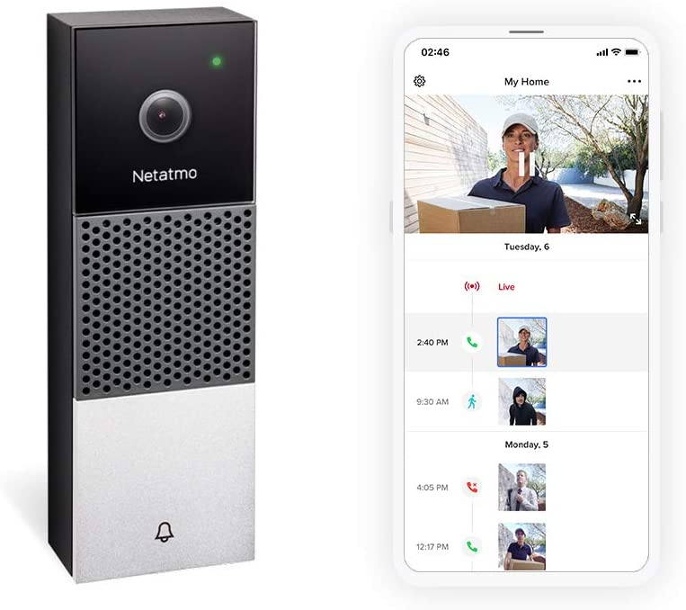 The Netatmo Smart Video Doorbell is now compatible with the main voice assistants: Google Assistant, Amazon Alexa and Siri